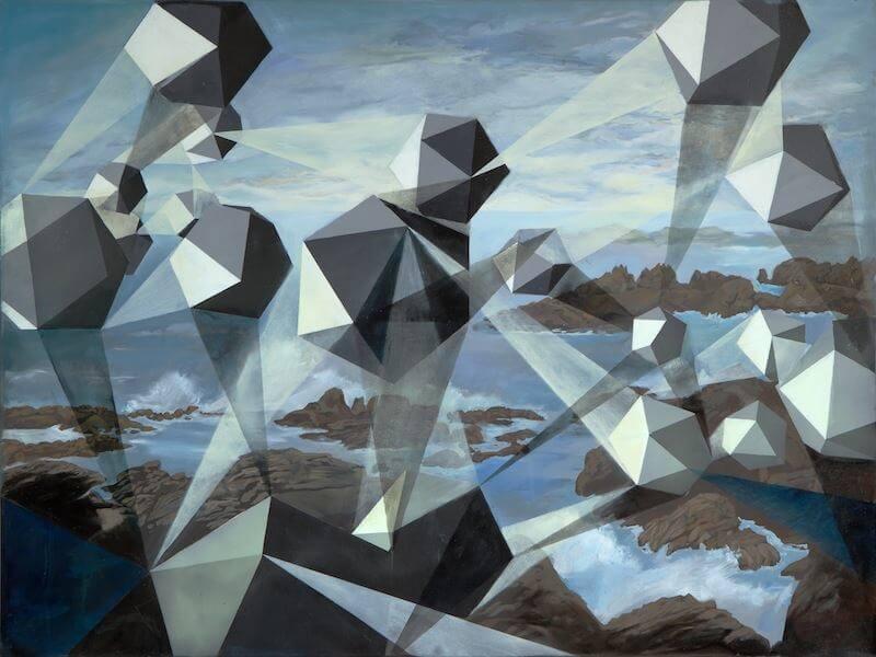 Nachleuchten. 120 x 160 cm. Mischtechnik mit Phosphorfarbe. 2010, © Stephanie Walter
