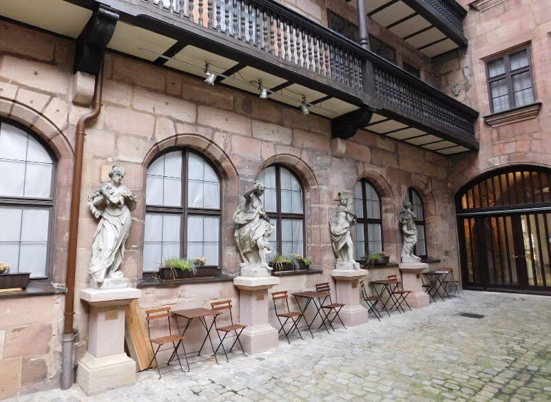 Fembohaus, Innenhof, Bildnachweis: Museen der Stadt Nürnberg, Stadtmuseum, Foto: Alexander Racz
