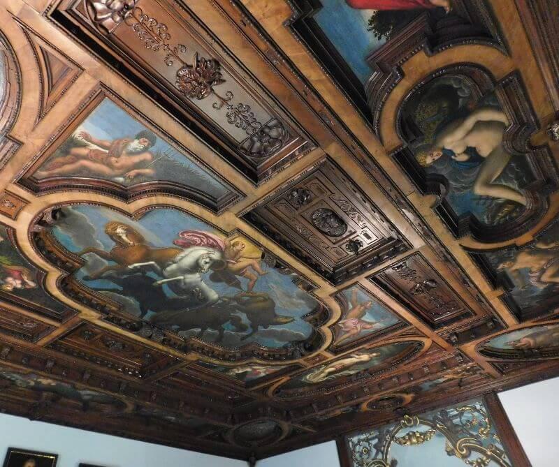 Fembohaus, Schönes Zimmer aus dem Pellerhaus, Decke, Bildnachweis: Museen der Stadt Nürnberg, Stadtmuseum, Foto: Alexander Racz