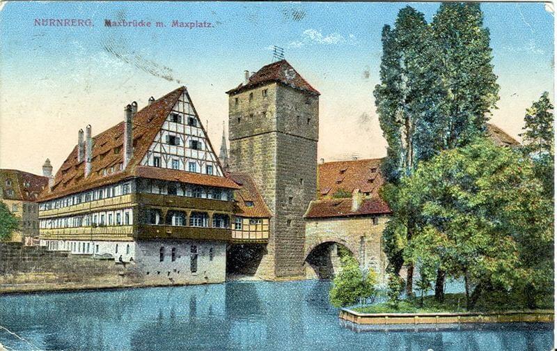 Nürnberg, Weinstadel, um 1918