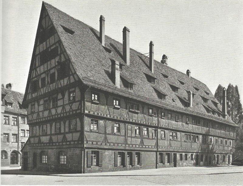 Der Weinstadel am Maxplatz in Nürnberg, von Nord-Westen, aus: Das alte Nürnberg, 1933-35.