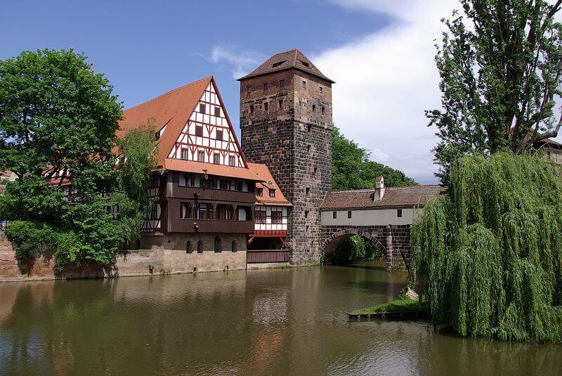 Nürnberg, Weinstadel und Wasserturm
