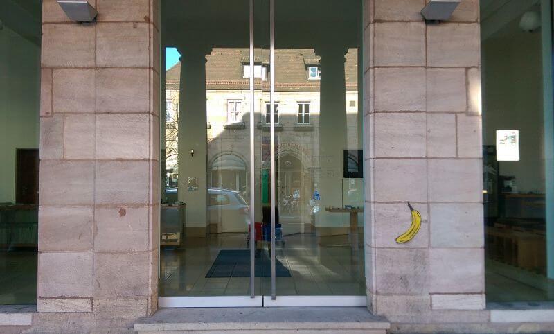 Eingang der Kunsthalle Nürnberg