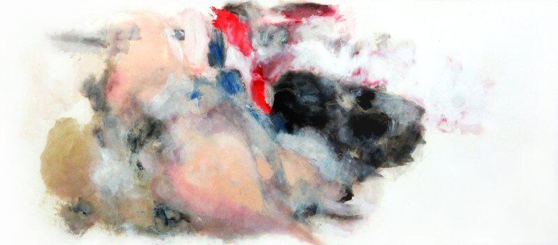 Ente, 148 x 345 cm, Acryl auf Zeichenkarton, 2015