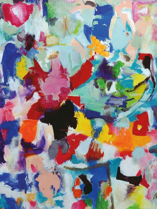 Huhn, 96 x 147,5 cm, Acryl auf Zeichenkarton, 2015