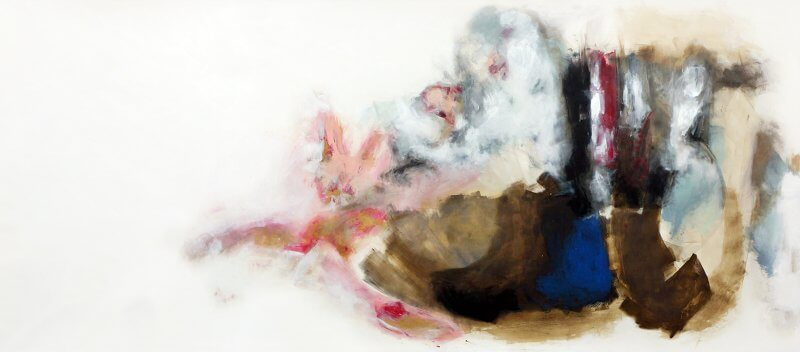 Schräg, 148 x 345 cm, Acryl auf Zeichenkarton, 2015