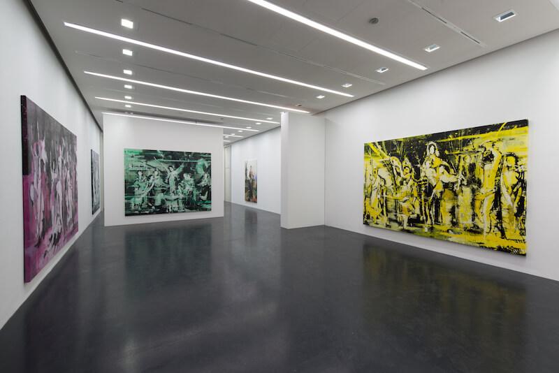 """Ausstellungsansicht """"Lars Teichmann. Aura"""" Foto: Erich Malter"""