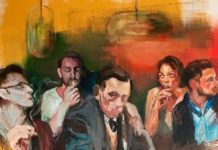 Die Nächte sind nicht für die Menge gemacht, 2015, Acryl auf Leinwand, 130 x 110 cm.