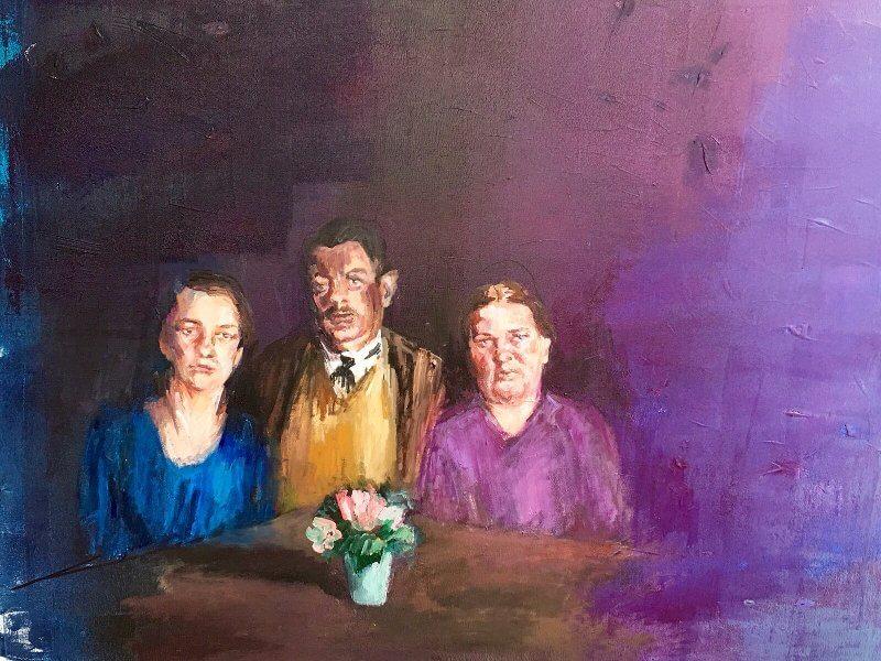 Um Menschen zu schauen ins Angesicht, 2015, Acryl auf Leinwand, 80 x 100 cm