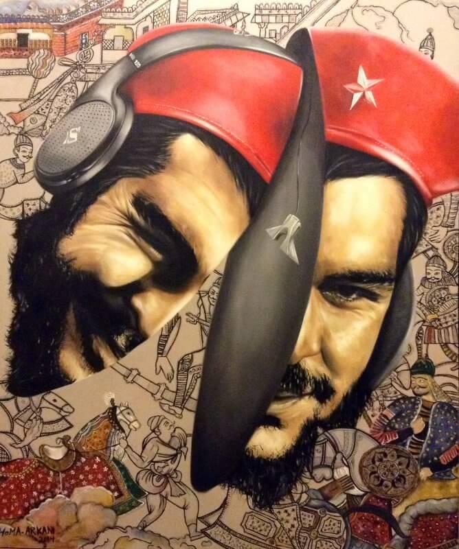 Che Guevara, Öl auf Leinwand © Homa Arkani