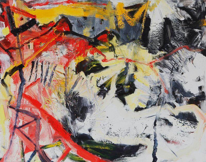 Ciao!, 2015, 100 x 80 cm, Öl auf Leinwand, © Ursula Krauss
