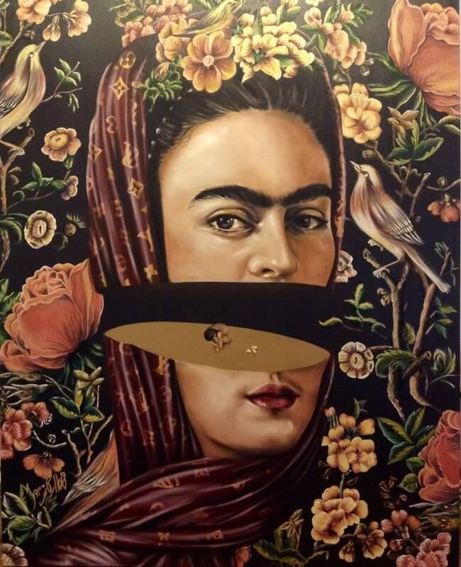 Frida, Öl auf Leinwand, © Homa Arkani