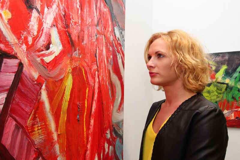 Ursula Krauss, Beyond in der Tiny Griffon Gallery, Foto: Mile Cindrić