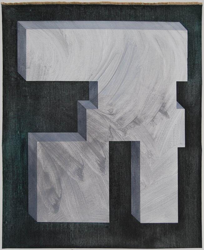 o.T. I 2016 Acryl und Öl auf Leinen I 110 x 90 cm I, © Anita Blagoi