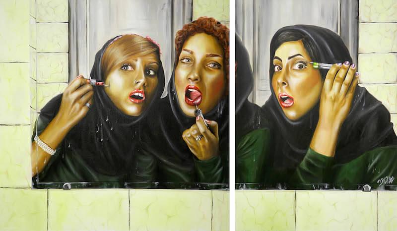 just for you, 170 x 100 cm, Öl auf Leinwand, 2011, © Homa Arkani