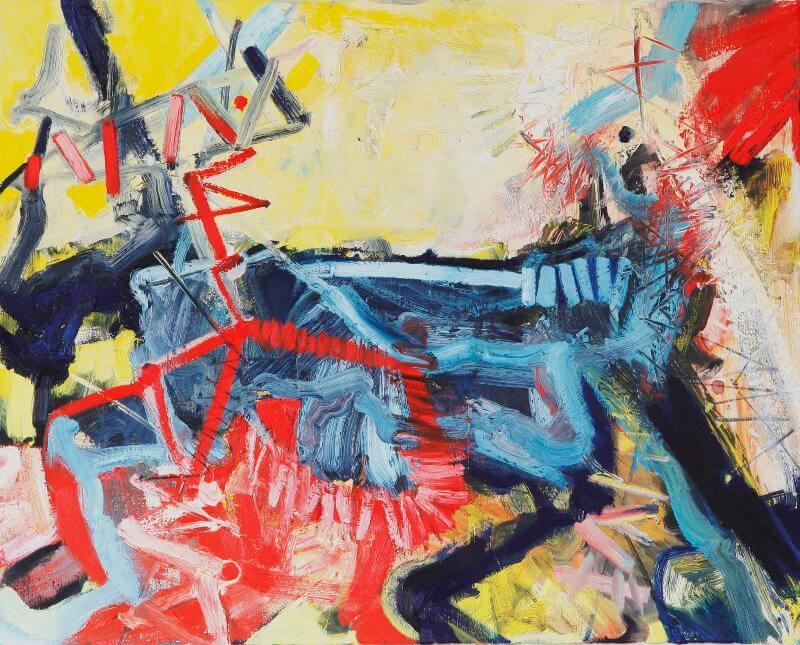 o. T., 2015, 100 x 80 cm, Öl auf Leinwand, © Ursula Krauss