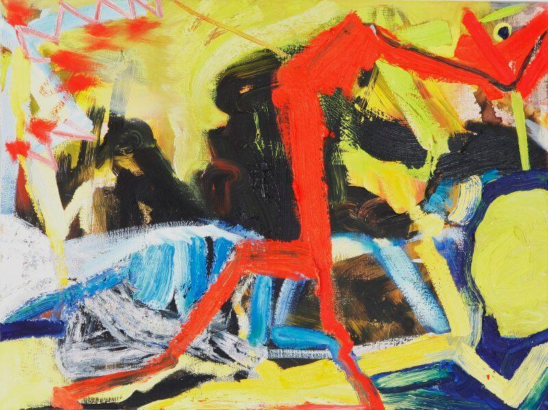 o. T., 2015, 80 x 60 cm, Öl auf Leinwand, © Ursula Krauss