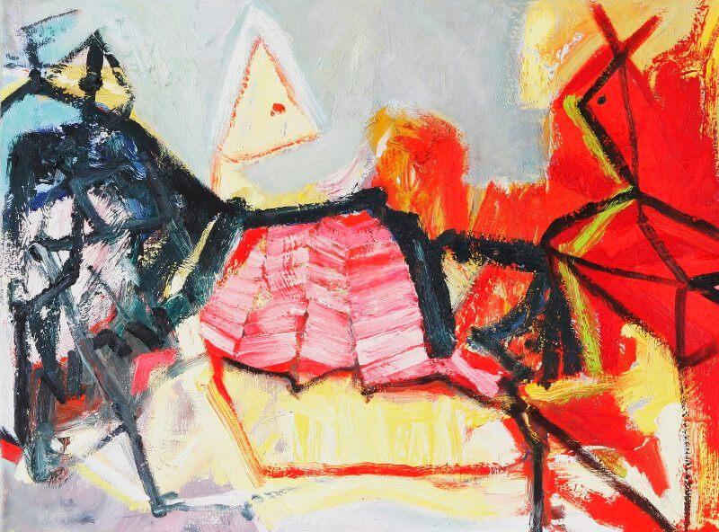 o. T., 2015, 80 x 60cm, Öl auf Leinwand, © Ursula Krauss