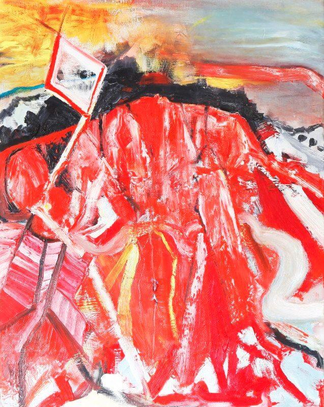 o.T., 2015, 100 x 120, Öl auf Leinwand, © Ursula Krauss