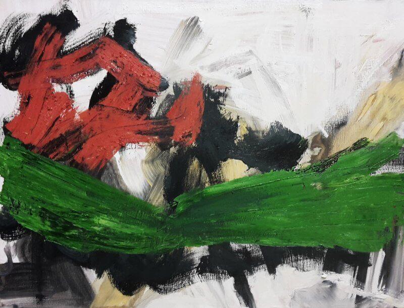 o.T., 2015, 80 x 60 cm, Öl auf Leinwand, © Ursula Krauss