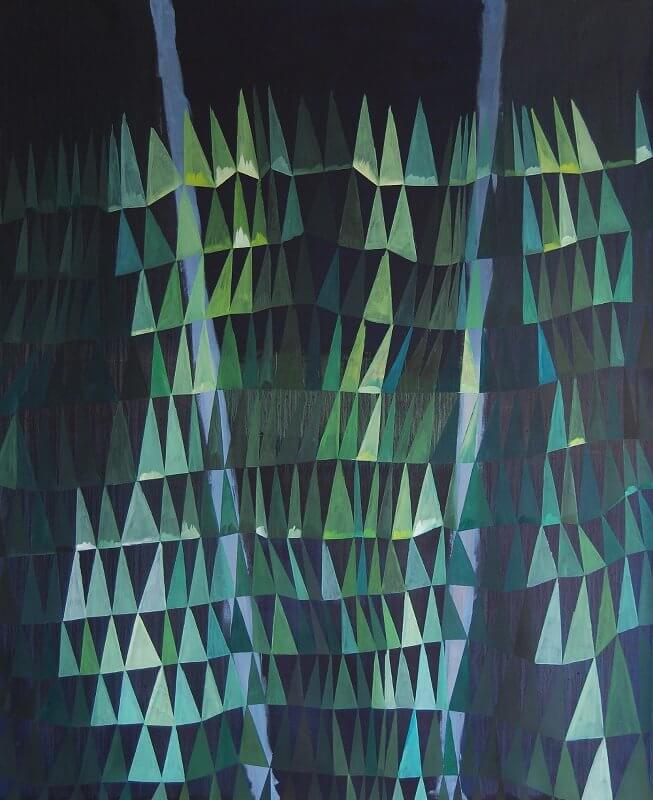 o.T. I Öl auf Papier I 150 x 123 cm I 2014, © Anita Blagoi