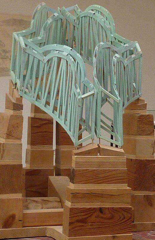 Fredder Wanoth, Architekturmodell, 50 x 50 x 70 cm