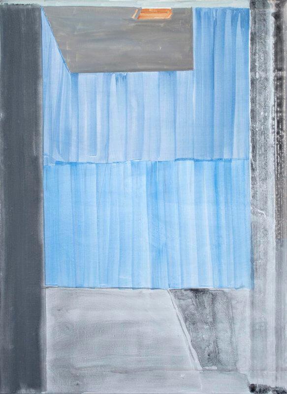 Tobias Buckel, Liberace, 2015, Acryl, Kleber und Farbpigmente auf Leinwand, 150 × 110 cm