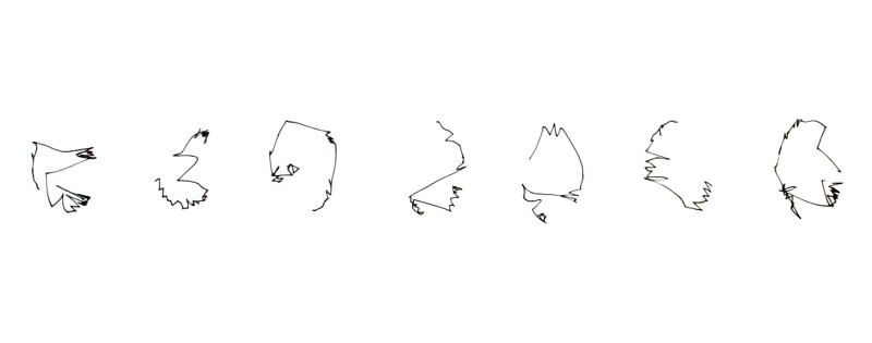 Analog Doodles, 2014 , Fineliner auf Papier, 20 x 2000 cm, © Elizabeth Thallauer