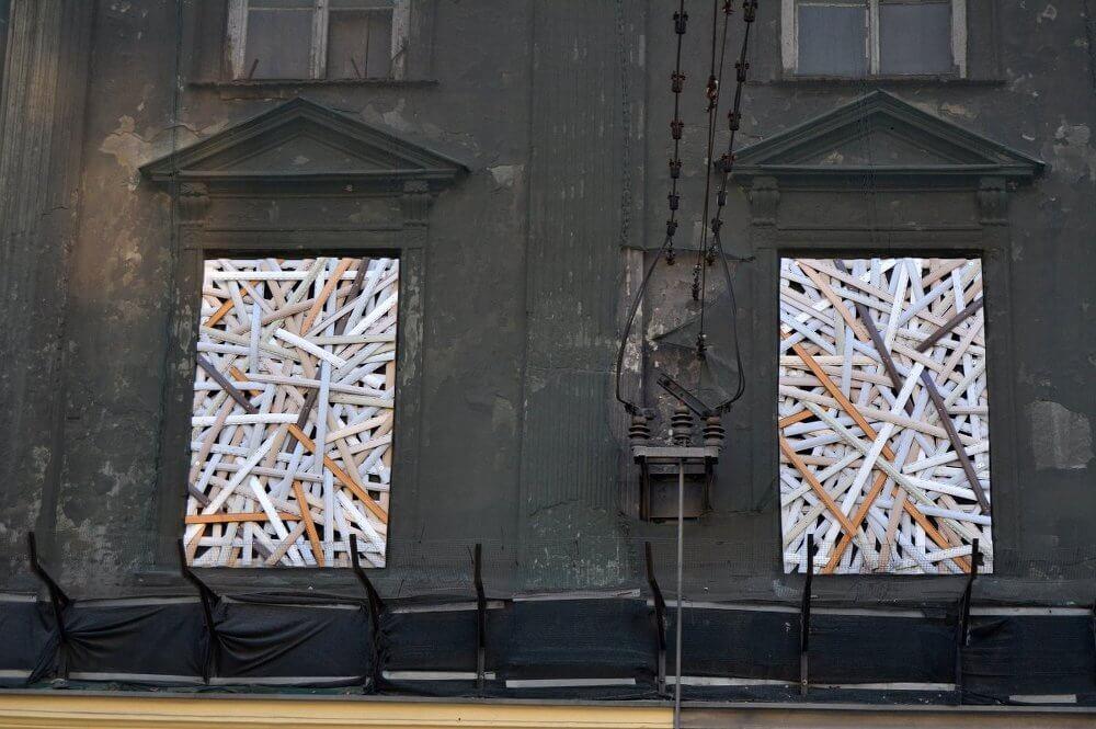 Caspar Hüter: Czesc Krakowie, 2016, Ausschnitt Installation
