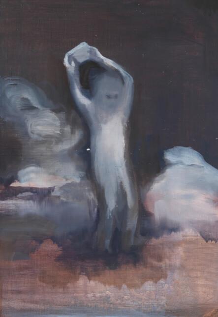 Sejin Kim: O.T, 2015, Öl auf Papier, 36 x 24 cm