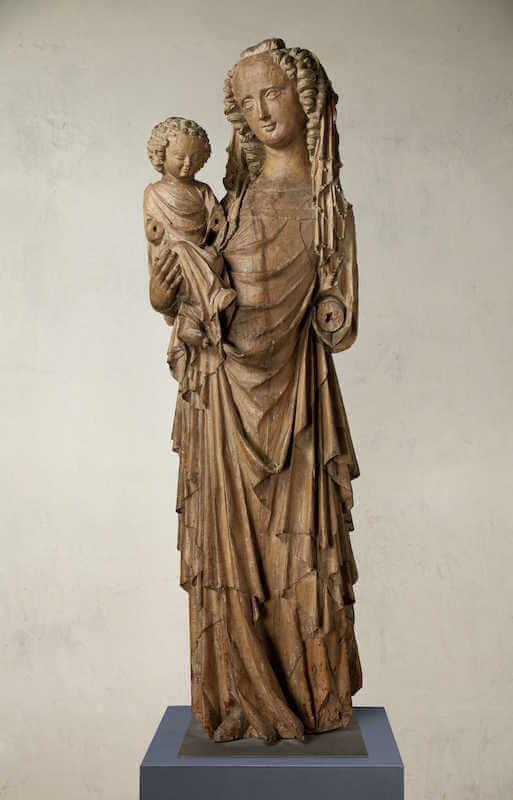 Madonna aus der Kirche Unserer Lieben Frau in Michle, Prag, um 1330 Birnbaumholz Prag, Nationalgalerie © Nationalgalerie in Prag