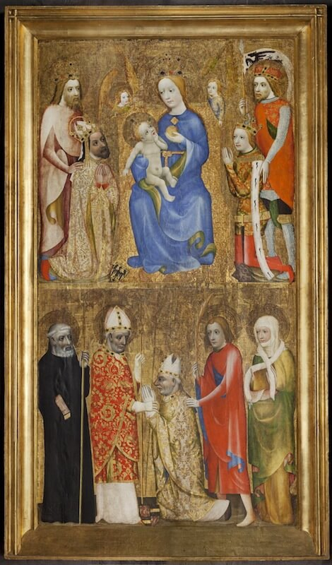 Votivtafel mit Darstellung von Kaiser Karl IV., um 1370 Tempera auf Holz © Nationalgalerie Prag