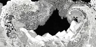 Angelika Arendt: Die neue Utopie, 2016, Tusche auf Papier, 40 x 30 cm