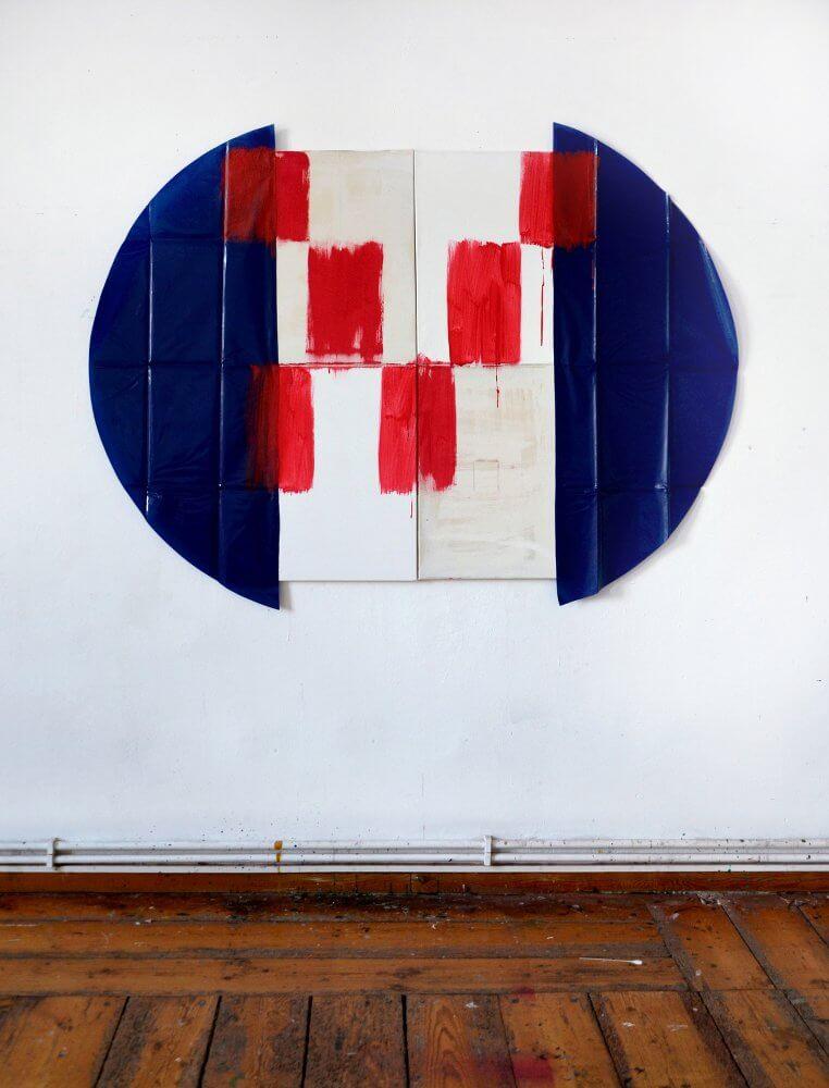 Karina Kueffner | untitled (radio) | 2016 | Acrylfarbe | Leinwände, Wachstuch | 100 x 135cm