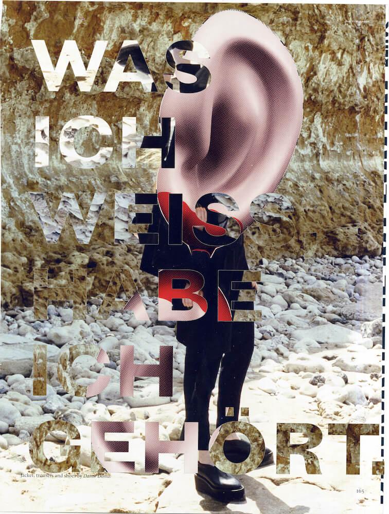 wasichweißhabeichgehoert, 2016, Collage analog + digital, © Aniela Helen Guse