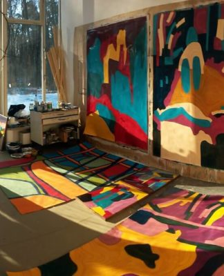 Atelier von Katharina Kiupel in der AdBK Nürnberg