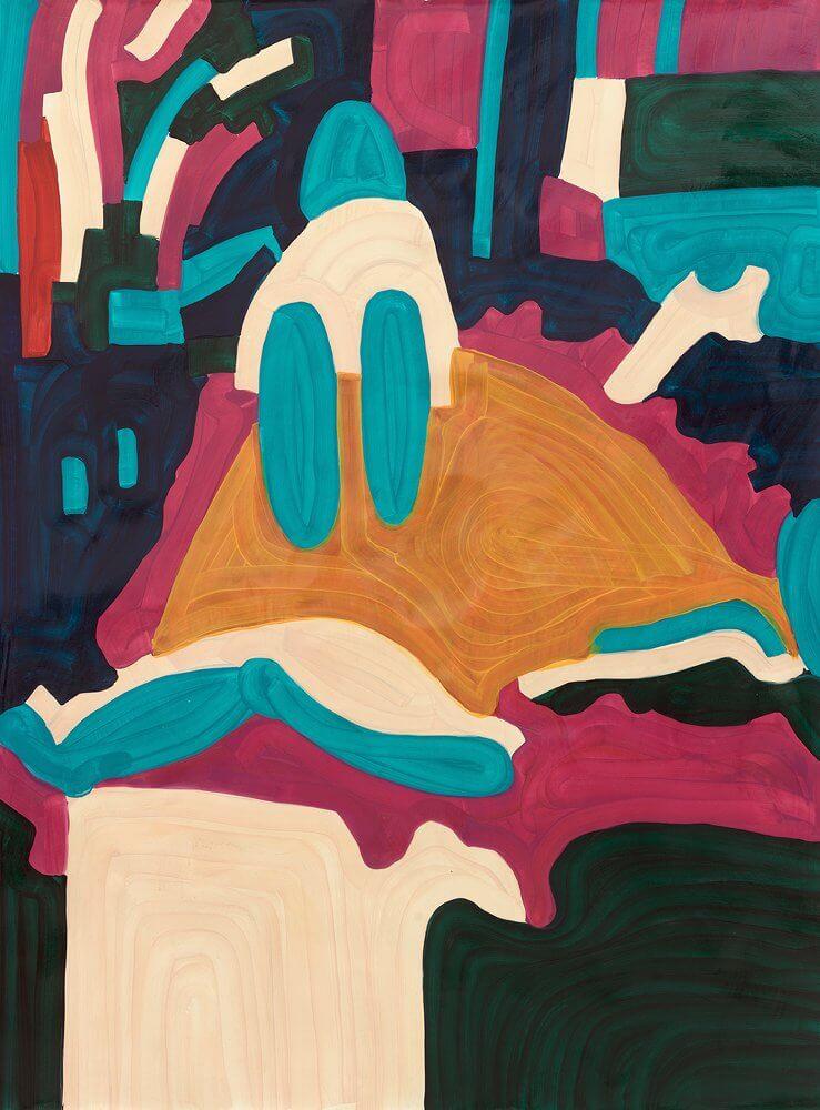 Katharina Kiupel: Badewanne, 200 x 150 cm, Oil auf Papier, 2016