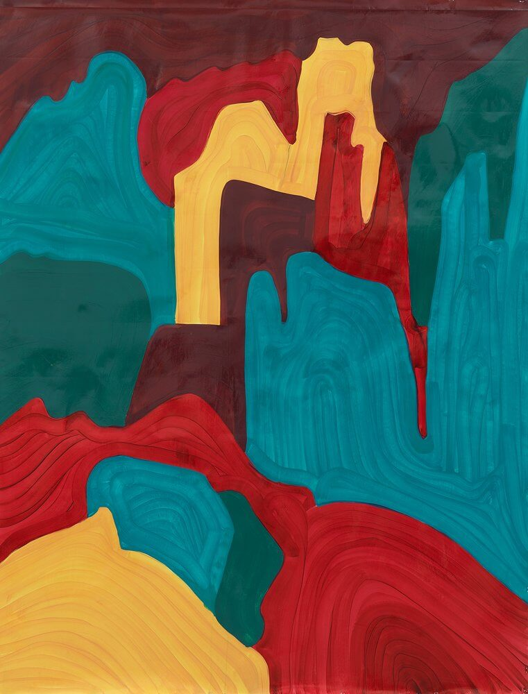 Katharina Kiupel: Langkofel, 200 x 150 cm, Öl auf Papier, 2016