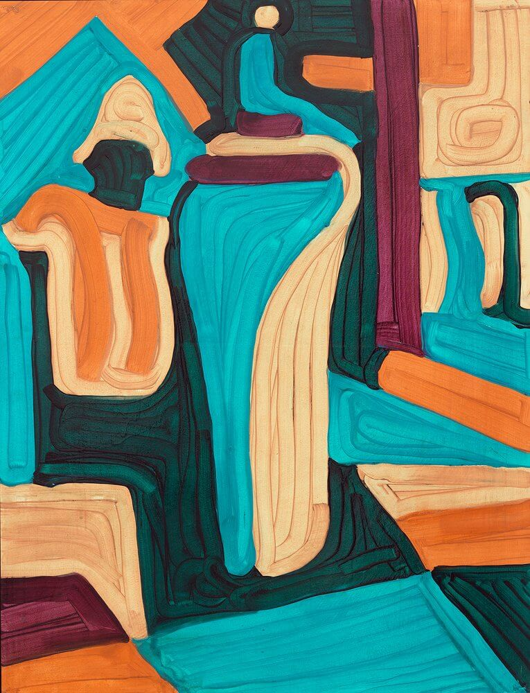 Katharina Kiupel: Leo Mary, 70 x 50, Öl auf Papier, 2016