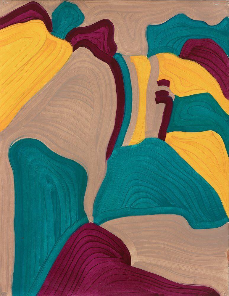 Katharina Kiupel: o. T., 70 x 50 cm, Öl auf Papier, 2016