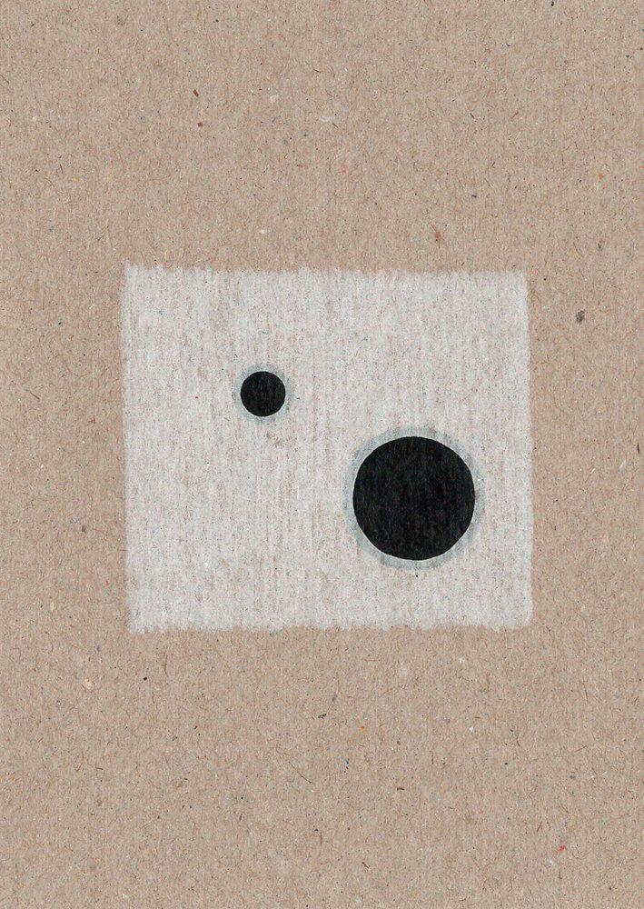Begleiter / Pigmenttusche, Buntstift, wasserbasierte Farbstofftinte auf Papier / 105 x 148 mm / 2016
