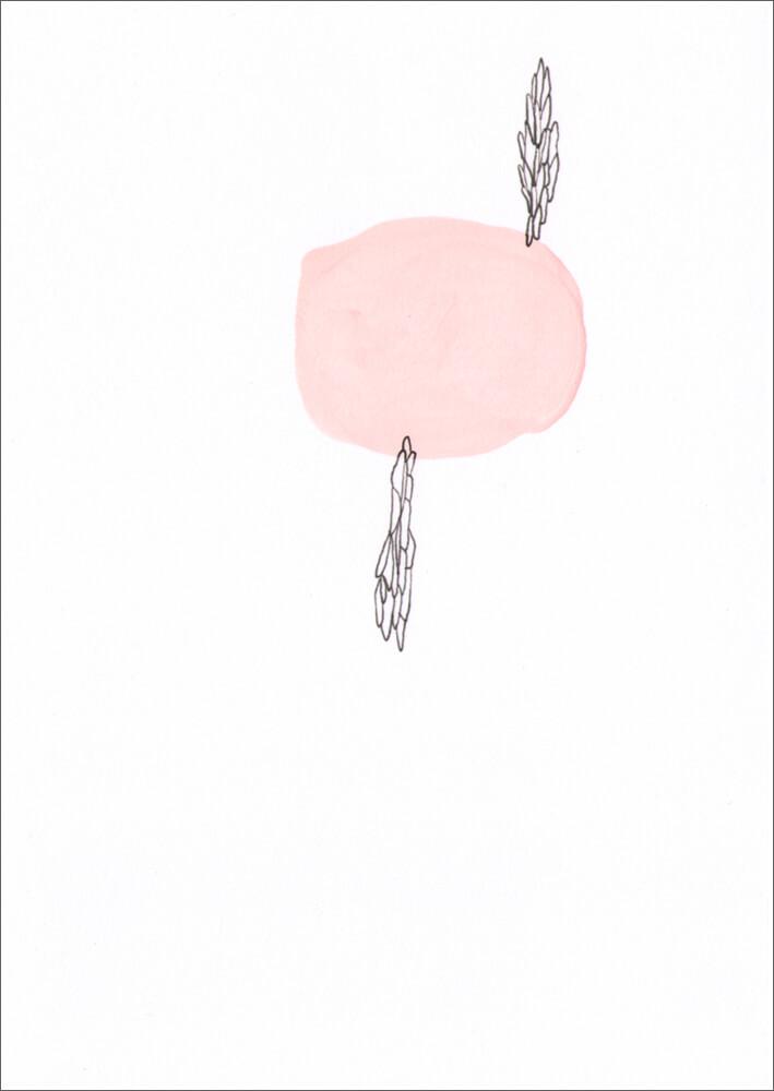Wuchs / Pigmenttusche, Wasserfarbe, Gouache auf Papier / 105 x 148 mm / 2014