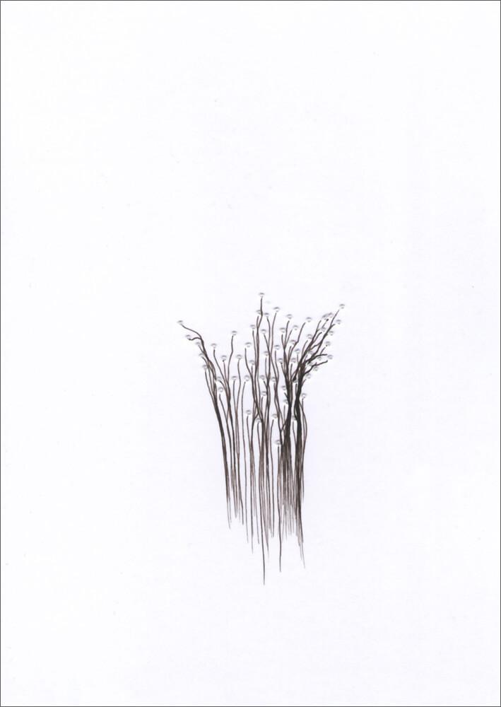 Chaos und Beständigkeit / Tusche, Perforierung auf Papier / 105 x 148 mm / 2015