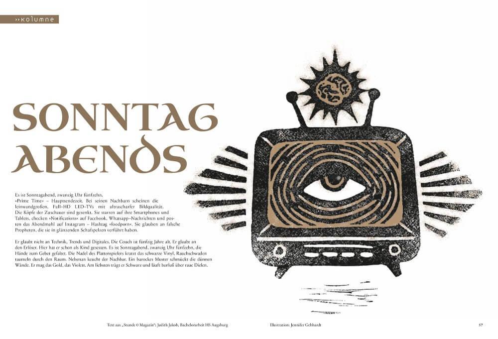 ausgeh:zeichnet, 5. Ausgabe des Illustrationsmagazins NichtGeorg der TH Nürnberg