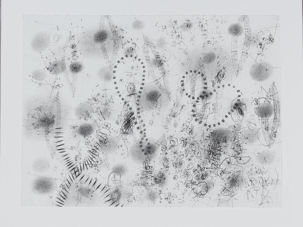 Renate Sellesnick: Bleistift auf Papier, o.T., 2010, 77cm x 58cm