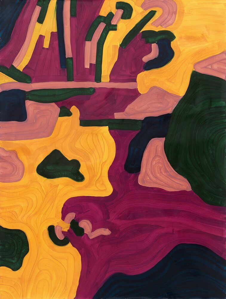 Katharina Kiupel: Klamm, 200 x 150 cm, Öl auf Papier, 2016