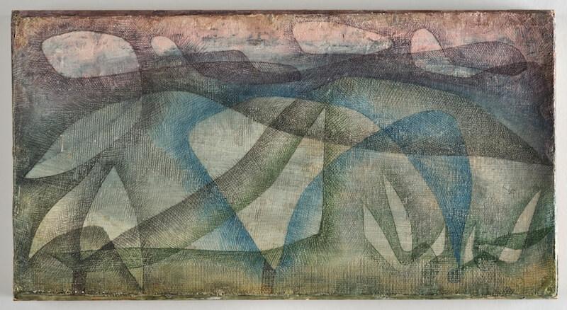 Paul Klee, Regentag, 1931, Aquarell auf Karton auf Rahmen genagelt, 20,5 x 38,5 cm, Bern, Zentrum Paul Klee (Leihgabe aus Privatbesitz)