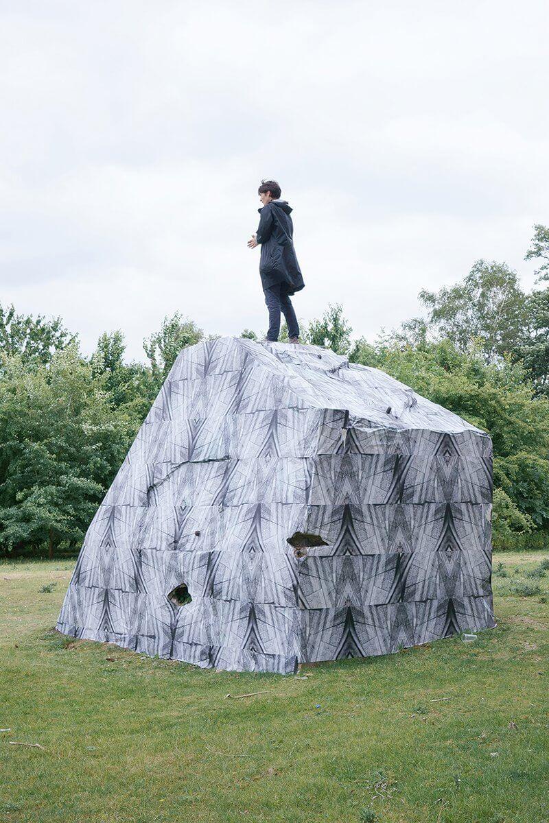 Jessica Twitchell: Inner Being Autonomy 2015, Stein im Gustavs Park, Essen DIN A2 O setdruck 400 x 230 x 280 cm