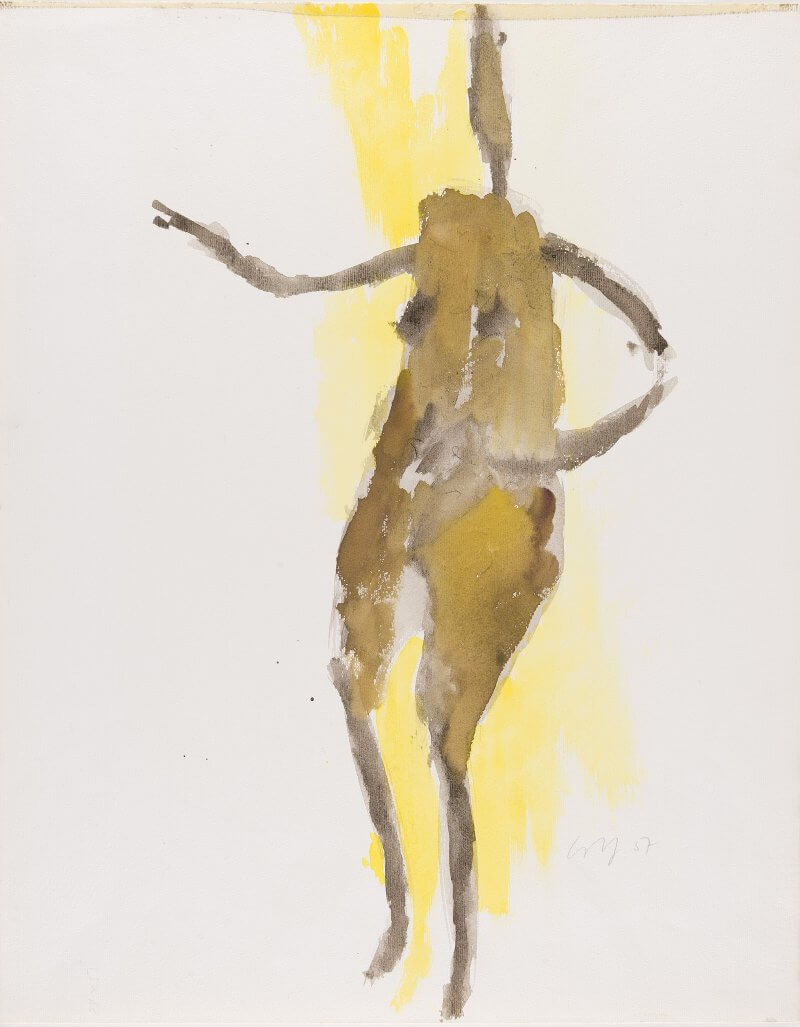 Wilhelm Loth, Figur, Aquarell, 1967, © Museum Lothar Fischer