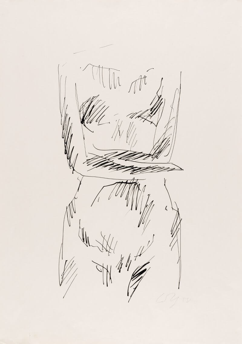 Wilhelm Loth: Hommage an Käthe Kollwitz, Tusche, 1967, © Museum Lothar Fischer